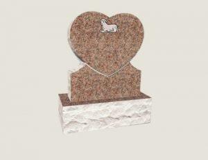 Baby Heart In Composite Granite in Morning Rose