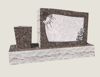 Single Half Composite Granite in Everlasting Mahogany