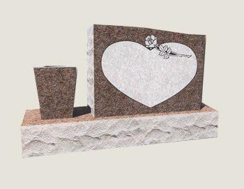 Single Half Composite Granite in Morning Rose
