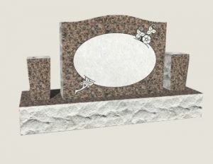 Single Composite Granite in Everlasting Mahogany