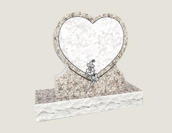 Single Heart Composite Granite In Everlasting Pink