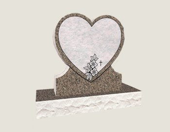Single Heart Composite Granite In Everlasting Mahogany