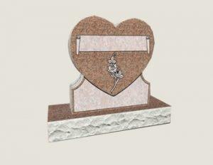 Single Heart Composite Granite In Morning Rose
