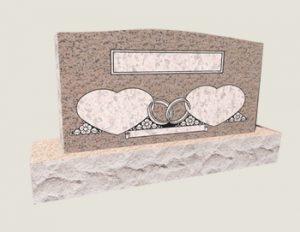Companion Heart In Composite Granite In Salisbury Pink