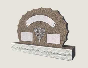 Scalloped Composite Granite In Everlasting Mahogany