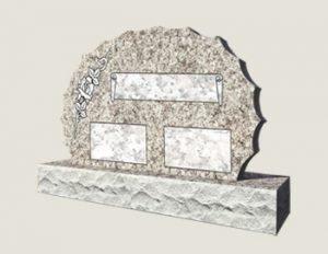 Scalloped Composite Granite In Everlasting Pink