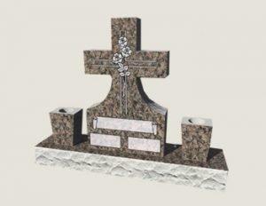Cross Composite Granite In Everlasting Mahogany