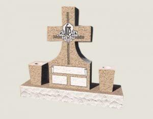 Cross Composite Granite In Salisbury Pink