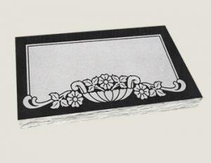 Single Flat Marker Composite Granite in India Black