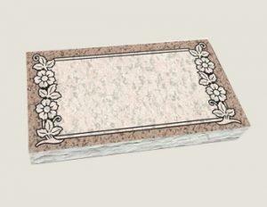 Single Flat Marker Composite Granite in Salisbury Pink