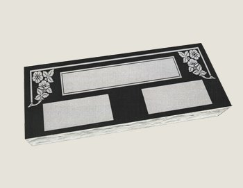 Companion Flat Marker Composite Granite in Absolute Black
