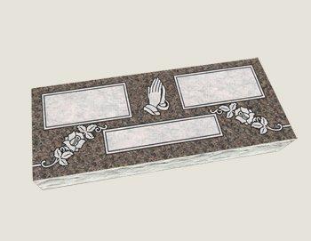 Companion Flat Marker Composite Granite In Everlasting Mahogany
