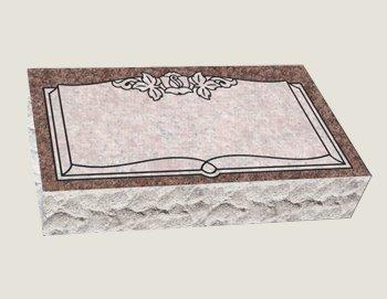 Single Bevel Marker Composite Granite In Morning Rose