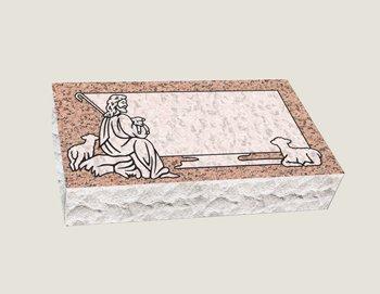 Single Bevel Marker Composite Granite in Salisbury Pink