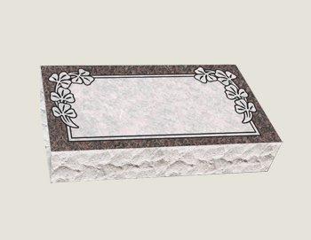 Rectangular Composite Granite in Everlasting MahoganySingle Bevel Marker