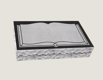 Single Bevel Marker Composite Granite in Black Veil