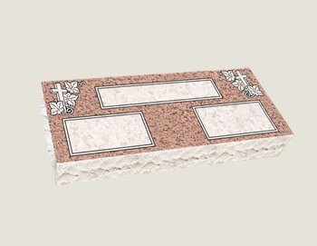 Companion Bevel Marker Composite Granite in Salisbury Pink