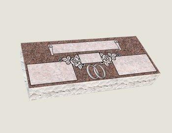 Companion Bevel Marker Composite Granite in Morning Rose