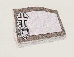 Single Slants In Composite Granite in Everlasting Mahogany