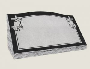 Single Slants In Composite Granite in Black Veil