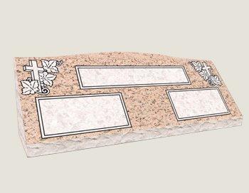 Companion Slants In Composite Granite in Salisbury Pink