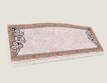 Companion Slants In Composite Granite in Morning Rose