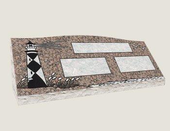 Companion Slants In Composite Granite in Everlasting Mahogany