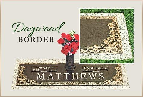Bronze Grass Marker Dogwood Border