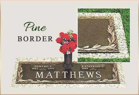 Bronze Grass Marker Pine Border
