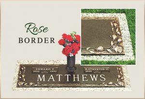 Bronze Grass Marker Rose Border