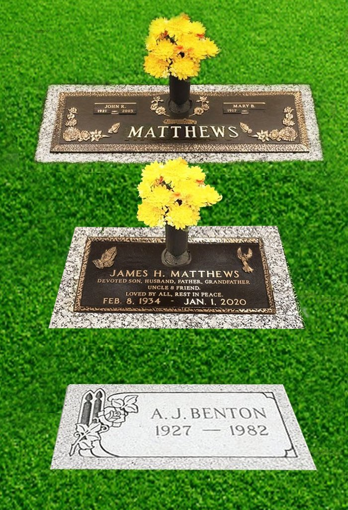 Granite & Bronze Grass Markers